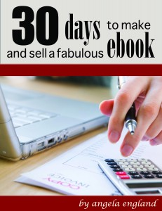 30 days to make and sell ebook cover