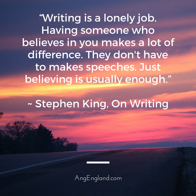 Writing is a lonely job quote by Stephen King - Great information for writers