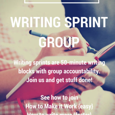 Writing Sprint Groups - How to find one, why join one, and how to get the most out of it.